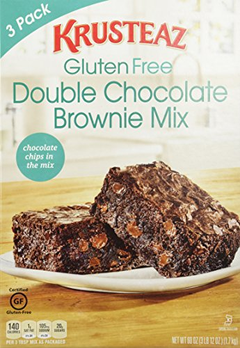 Krusteaz GLUTEN-FREE Double Chocolate BROWNIE MIX 3-Pack (60oz. Total)