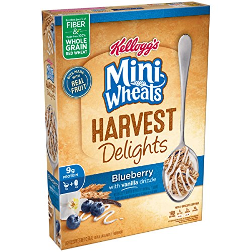 Frosted Mini-Wheats Harvest Delights Cereal, Blueberry Vanilla, 14.3 Ounce