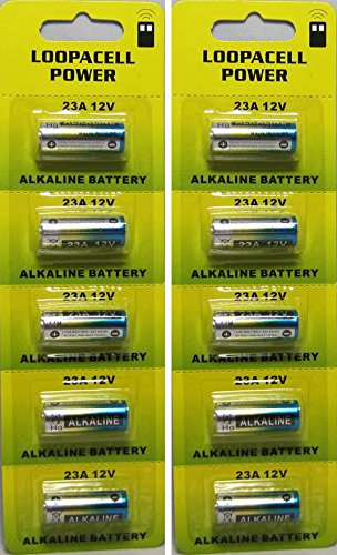 A23 12-Volt Alkaline Battery (10-Pack) By Loopacell