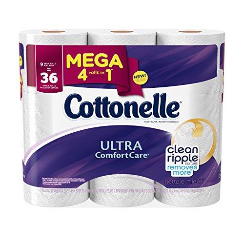Cottonelle Ultra Comfort Care Mega Roll Toilet Paper, 9 Count