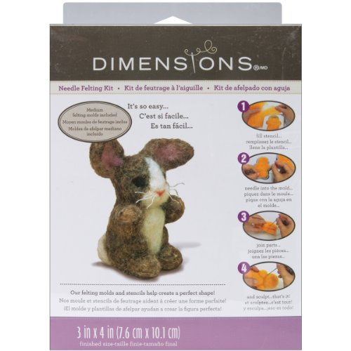 Dimensions Needlecrafts Needle Felted Character Kit, Bunny