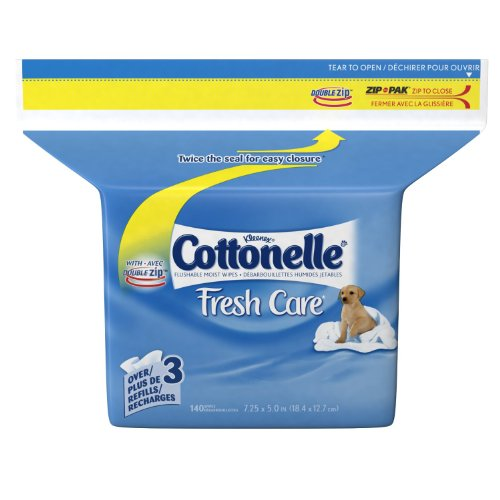 Cottonelle Fresh Flushable Moist Wipes, Pop-Up Refill (280 Wipes)