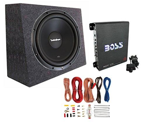 Rockford Fosgate R1S4-10 10 Prime 300 Watt 4-Ohm SVC Subwoofer + Sealed Box