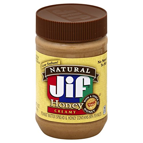 Jif Natural Peanut Butter Spread and Honey, 16 oz.