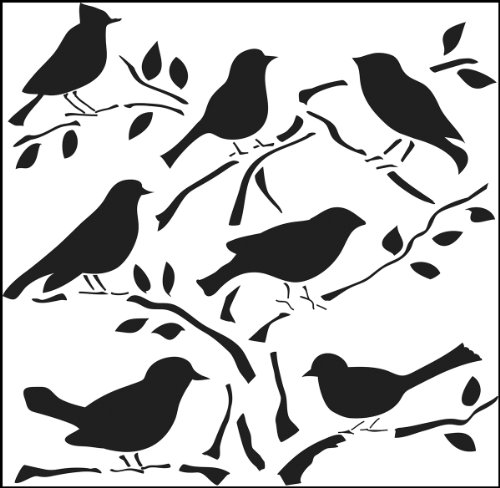 Crafters Workshop Crafter's Workshop Template, 12 by 12-Inch, Birds