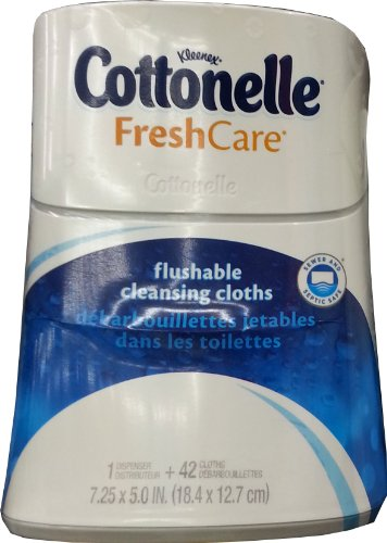 Cottonelle Fresh Care Flushable Cleansing Cloths Dispenser, 42 Count