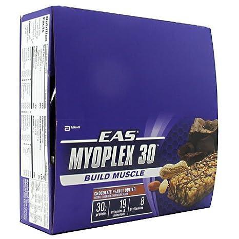 EAS Myoplex 30 Chocolate Barl, 3 oz. Bars,  (Pack of 6)