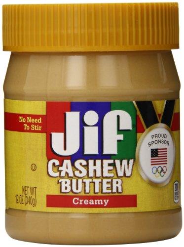 Jif Cashew Butter, Creamy, 12 Ounce