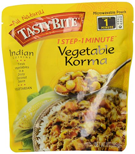 Tasty Bite Vegetable Korma Heat and Eat Entree, 10 Ounce