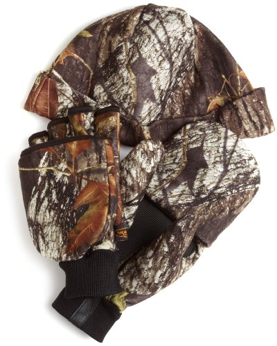 Yukon Gear Break Up Hat/Glove Combo (Mossy Oak Break Up, Large)