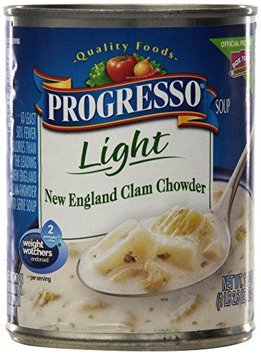 Progresso Soups Light Soup, New England Clam Chowder, 18.5 Ounce