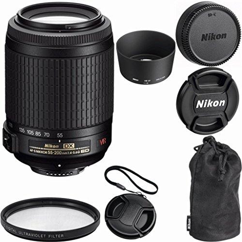 Nikon 55-200mm f/4-5.6G ED IF AF-S DX VR [Vibration Reduction] Nikkor Zoom Lens for Nikon Digital SLR Cameras - International Version (No Warranty)