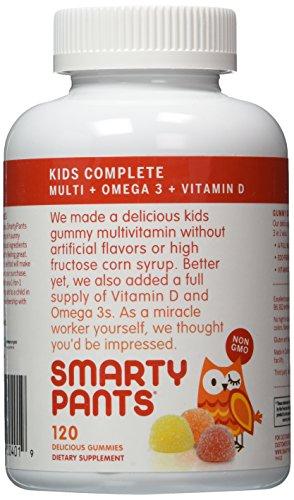 SmartyPants Children's All-in-One Multivitamin Plus Omega-3 Plus Vitamin D 120 Gummies (Pack of 2)