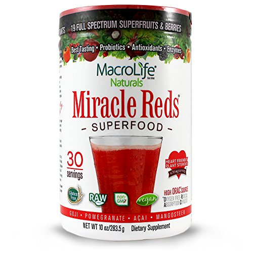 Miracle Reds Anti-Oxidant Super Food 10 oz Pwdr