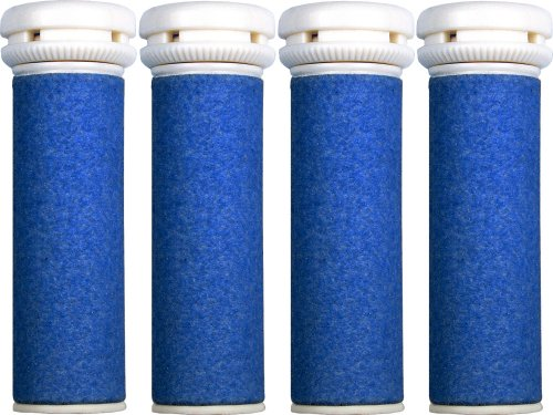 4 x Extra Coarse Replacement Refill Rollers Compatible with Emjoi Micro Pedi