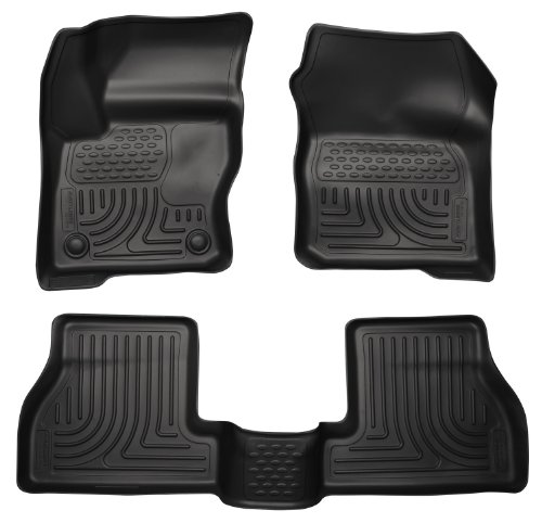 Husky Liners Custom Fit WeatherBeater Molded Front and Second Seat Floor Liner Set for Select Ford Focus Models (Black)
