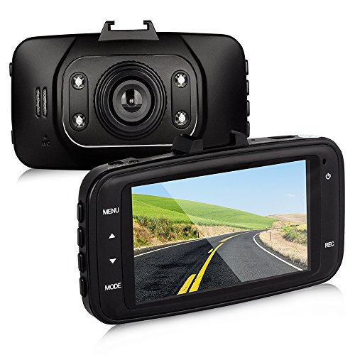 Btopllc Car DVR On Dash Video Camera 2.7 inch Full 1080P HD with 4 LED lights, Portable & Compact Car DVR Camera Recorder, Vehicle/Car Camera with Night Version, G-Sensor and Motion Detection