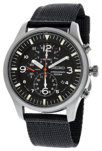 Seiko Men's SNDA57 Black Dial Analog Watch