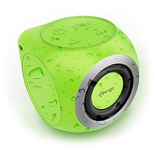 Mengo AquaCube, Waterproof Speaker [3W Ultra Clear Sound] Waterproof Portable Bluetooth (4.1) Speaker - Green - Retail Packaging
