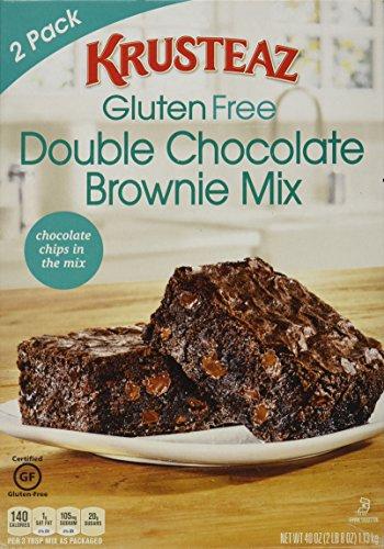 Krusteaz Gluten Free Double Chocolate Brownie Mix, 2 Pack, 2lb 8oz