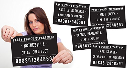 Bachelorette Party, Girls Night Out Mug Shot Signs - 20 Hilarious Signs
