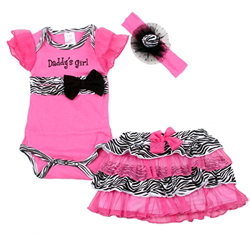 Baby butterfly headdress & Baby Girl's Dress Suits Romper Type YSQH6333, Pink, 3-6 Months