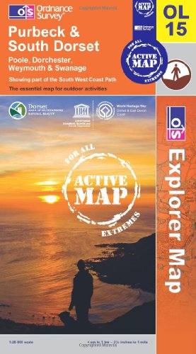 Purbeck and South Dorset, Poole, Dorchester, Weymouth and Swanage (OS Explorer Map Active)