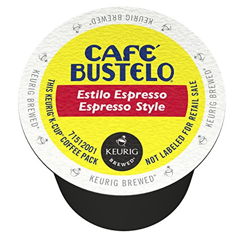 Cafe Bustelo Espresso Style, K-Cups for Keurig Brewers, 72 Count