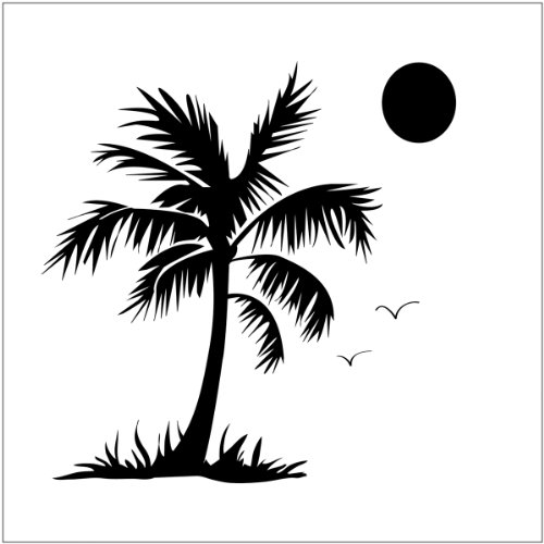 Crafter's Workshop Templates 6X6-Palm Tree