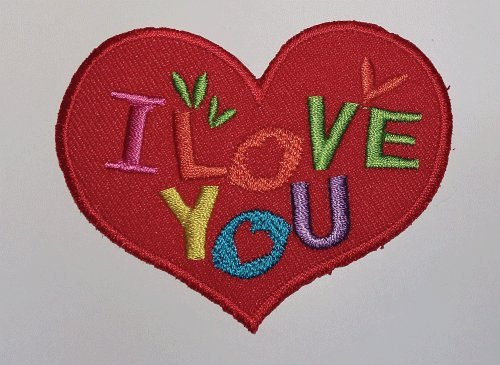 I Love You - Iron on Patch
