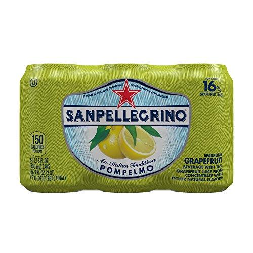 SANPELLEGRINO Sparkling Fruit Beverages, Pompelmo/Grapefruit 11.15-ounce cans, 6 Count