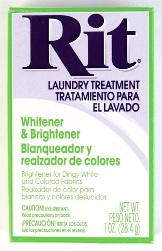 Rit Dye Laundry Treatment White-wash Stain Remover and Whitener Powder, 1-7/8 oz, White