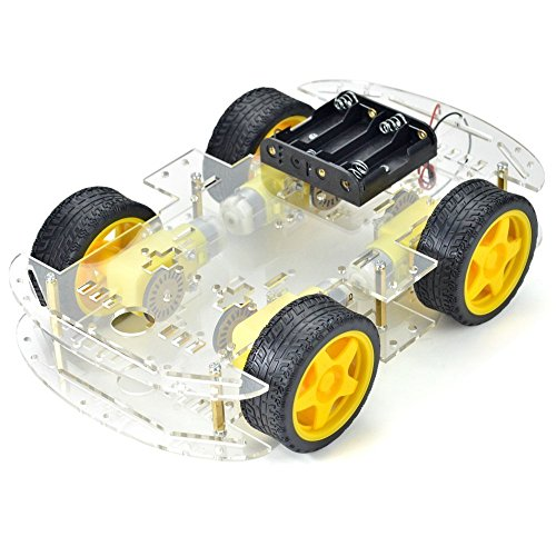4x Wheel Arduino Car Kit Robot Smart Chassis Kits DIY Car Motor with Battery Pack box for Arduino