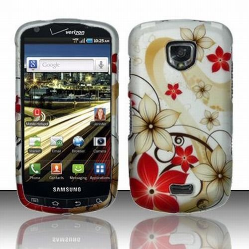 Samsung Droid Charge 4G Accessory - Blossoming Spring Flower Protective Hard Rubberized Case Cover for Verizon