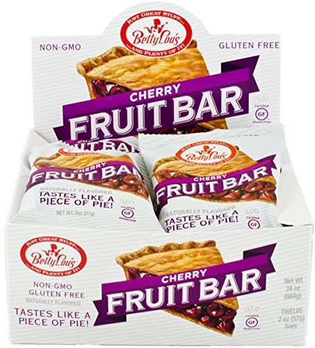 Betty Lou's Fruit Bars, Cherry, 2 Ounce (Pack of 12)