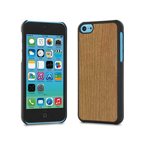 Cover-Up #WoodBack Real Wood Case for iPhone 5c - Cherry