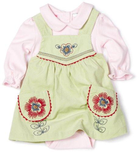 Little Bitty Baby-Girls Newborn Jumper Set With Logo, Sage, 6-9 Months
