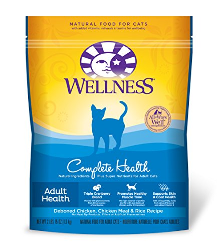 Wellness Complete Health Chicken & Rice Natural Dry Cat Food, 2.9-Pound Bag
