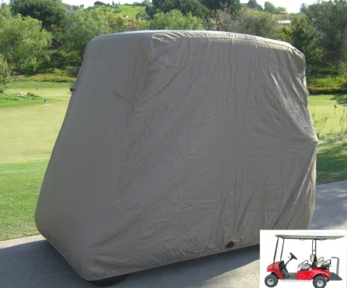 Deluxe 4 Passenger Golf Cart Cover roof 80L Taupe, fits E Z GO, Club Car and Yamaha G model