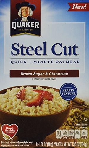 Quaker Steel Cut Quick 3-Minute Oatmeal (Blueberries & Cranberries) (Brown Sugar & Cinnamon)