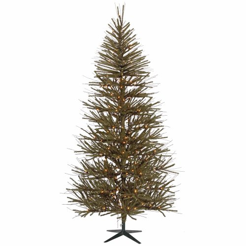 Vickerman Vienna Twig Tree with 602 Tips and 250 Clear Lights, 6-Feet by 40-Inch