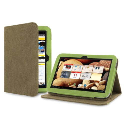 Cover-Up Lenovo IdeaTab A2109 (9-inch) Tablet Version Stand Natural Hemp Cover Case - Khaki Green