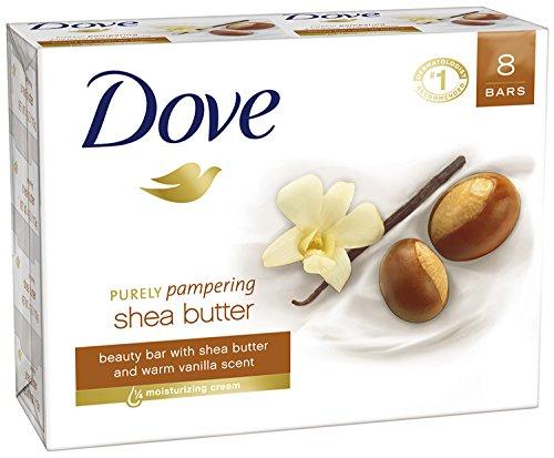 Dove Purely Pampering Beauty Bar, Shea Butter 4 oz, 8 Bar