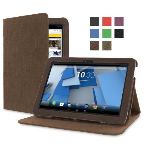 Cover-Up HP Slate 10 HD (10-inch) Tablet Version Stand Natural Hemp Cover Case - (Cocoa Brown)