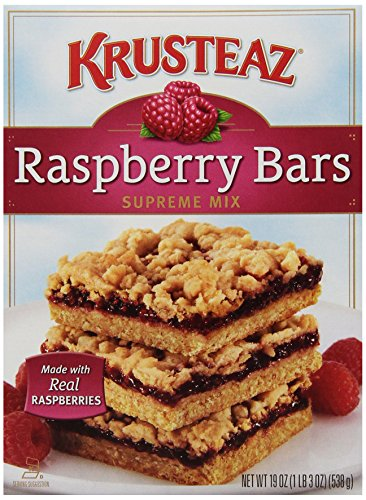 Krusteaz Raspberry Bars Supreme Mix, 19-Ounce Boxes (Pack of 12)