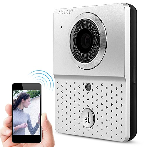 SUNLUXY Wi-Fi Enabled Video Door Camera Infercom Phone Doorbell IR Night Vision Wired Security Monitor