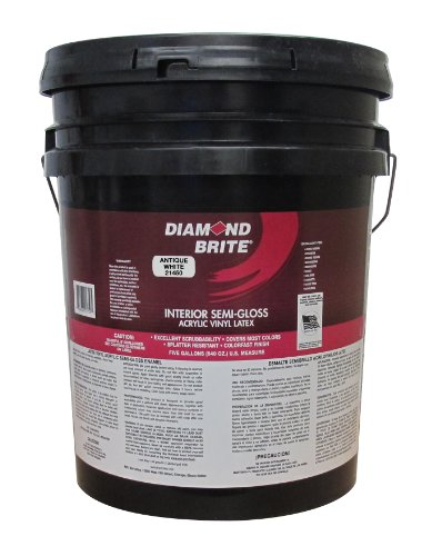 Diamond Brite Paint 21450 5-Gallon Semi Gloss Latex Paint Antique White