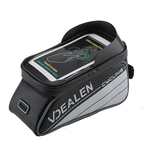 Vdealen Water Resistant Bicycle Front Bag with 4.7 Inch Touch Screen Phone Case for 4.2 ~ 4.7 IPhone 5s 6 6SE 6S 7 Samsung LG Nexus Lumia Sony HTC Smartphone