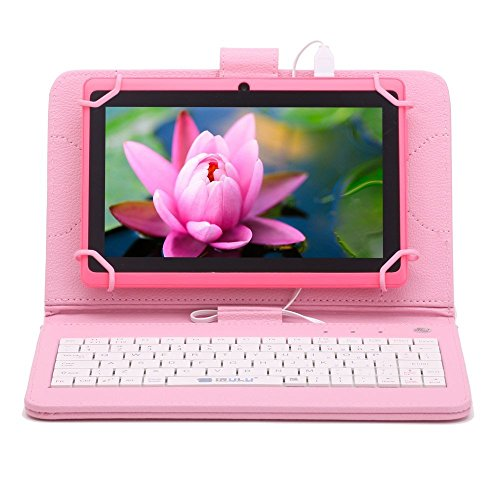 iRULU eXpro X1 7 Inch Android Tablet, GMS Certified by Google, 1.3GHZ Quad Core, Android 4.4, 1024*600 Resolution, Wi-Fi, Games, Dual Cameras, 8GB Storage - Pink Tablet