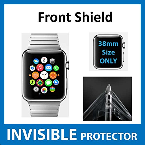 Apple Watch iWatch (38mm Size) Front INVISIBLE Screen Protector (Front Shield included) Military Grade Protection Exclusive to ACE CASE